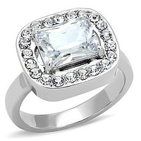 Mens Rings TK3209 Stainless Steel Ring with AAA Grade CZ