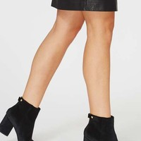 Wide Fit Black 'Mariah' Ankle Boots - Wide Fit Shoes - Shoes & Boots
