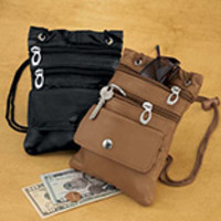 Small Leather Travel Purse