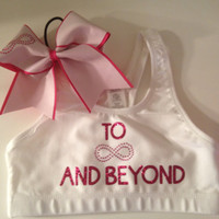 To Infinity and Beyond Bra and Bow Set Cheerleading