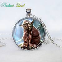 YODA NECKLACE YODA  Pendant necklace Pendant Yoda Necklace Gifts for  the Star Wars universe Jewelry