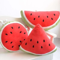 Lovely Cartoons Watermelon Cushion Fruits Gifts Toy [7201819905]
