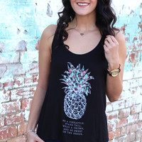 Be A Pineapple Tank {Black}