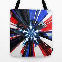 USA Tech Flag Tote Bag by Emiliano Morciano (Ateyo)