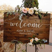 Customized Welcome Rustic Wedding Sign