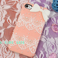 Pearl  lace  iphone 4 case cover iphone 4s case iphone 5 case