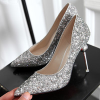 Red bottom high heels Pointed toe women pumps Nubuck Leather Party ladies shoes wedding shoes chaussure femme zapatos mujer