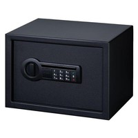 Personal Safe Electronic Lock with Shelf, Black