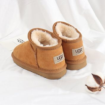 UGG Girls Boys Children Baby Toddler Kids Child Fashion Casual Boots-7