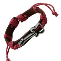 Red Leather Guitar Bracelet