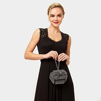 Bow Stone Wristlet Evening Bag