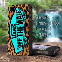 vans off the wall leopard for iphone 4/4s case, iphone 5/5s/5c case, samsung s2 i9100,s3/s4 case cover