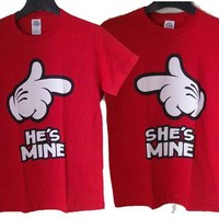 """""""Ay S/He's Mine"""" Couples Shirts"""