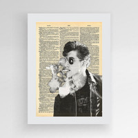 2 Alex Turner Poster, Arctic Monkeys Poster, Music Art Print, Alex Turner Print Arctic Monkey's Fan Art Print, Dictionary Print, Last Shadow