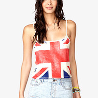 Cropped British Flag Cami