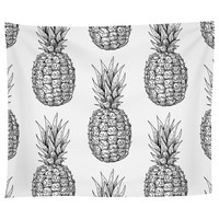 I Love Pineapple Tapestry