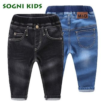 Baby Girls Boys Jeans For New Year Spring Autumn Demin Legging Elastic Pants Children Cotton Trouser For Fashion Kids Clothes