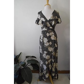 Amuse Society Floral Wrap Maxi Dress