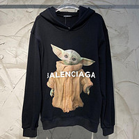 Balenciaga new hooded sports sweater fashion men and women loose tops