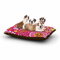 "Sarah Oelerich ""Paisley Pop"" Orange Pink Dog Bed"