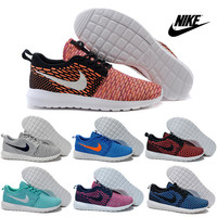 Nike Flyknit Roshe Run Running Shoes Men Women High Quality 2016 Sneakers RosheRun Orange Sports Shoes Free Shipping Size 36-45