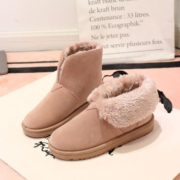 Hot Deal On Sale Winter Flat Vans Cotton Shoes Boots [47581888519]