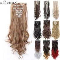 HAIR EXTENTIONS BEAUTY 24inch (8pcs/set) curly 18 Clip in Synthetic Hair