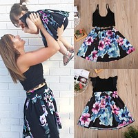 Mommy and Me  Floral Dress Outfit Set
