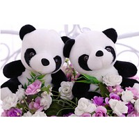 11cm Lovely Super Cute Stuffed Kid Animal Soft Plush Panda Gift Present Doll Toy