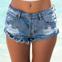 One Teaspoon || Bandits shorts in husk