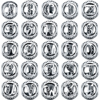 V.YA Alphabet Beads for Jewerly Making Accessories 26 Kinds Crystal Letter Bead for Pandora Charms