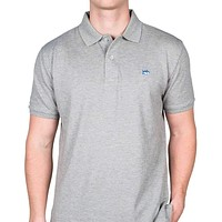 Short Sleeve Skipjack Polo in Heathered Grey by Southern Tide