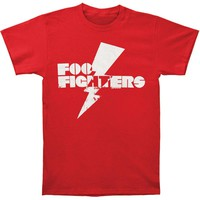 Foo Fighters Men's  Mens Lightning Bolt T-shirt Red