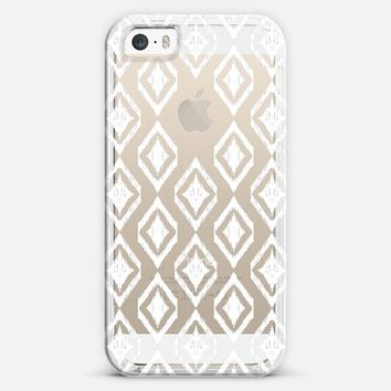 White Tribal Translucent Diamonds iPhone 5s case by Micklyn Le Feuvre | Casetagram