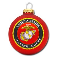 2014 USMC Emblem Glass Ornament