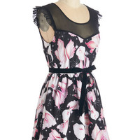 ModCloth Quirky Mid-length Cap Sleeves Ain't That Fantastical Dress