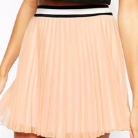 Fashion Union Pleated Mini Skirt with Sport Trim