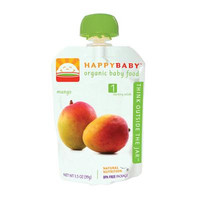 Happy Baby Organic Baby Food Stage 1 Fresh Mango - 3.5 oz - Case of 16