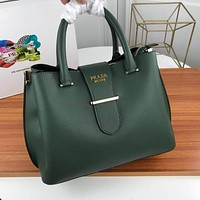 prada women leather shoulder bags satchel tote bag handbag shopping leather tote crossbody 342