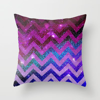 *** Galaxy Chevron ***  Throw Pillow by Monika Strigel