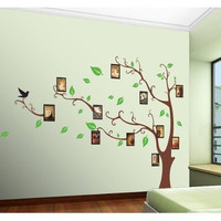 Brown Photo Picture Frame Tree Vine Branch Removable Wall Decor Decal Stickers (Photo and frame is not included)