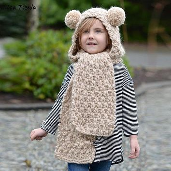 Winter Hats For Kids Princess Solid Winter Wool