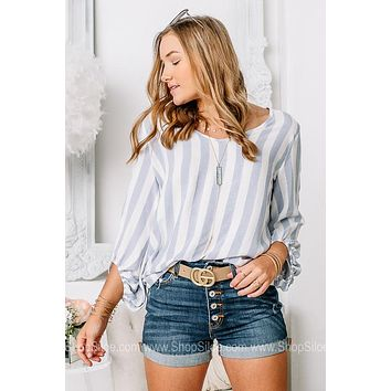 Beachin' Striped Long Sleeve Top