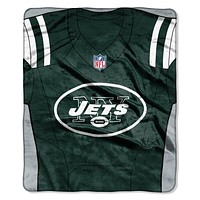 New York Jets Blanket 50x60 Raschel Jersey Design