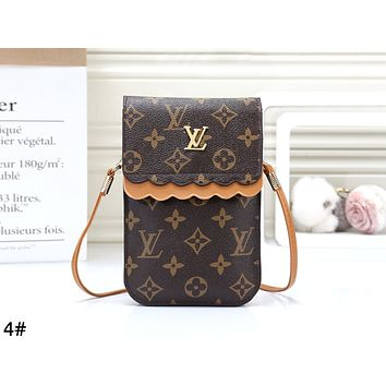 LV 2019 new women's mini wild vertical coin purse mobile phone bag shoulder bag 4#