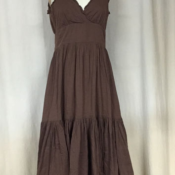 ANTHROPOLOGIE Odille Tiered Tank Maxi Dress Size 6 Boho Chic Peasant Dress