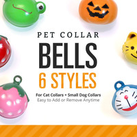 Pet Collar Jingle Bell (6 Styles) - Pick One - For Cat Collars & Small Dog Collars