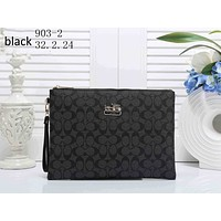COACH 2018 new women's exquisite fashionable high quality clutch bag shoulder bag F-KSPJ-BBDL black