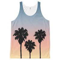Sunset Palm Trees Tank Top All-Over Print Tank Top