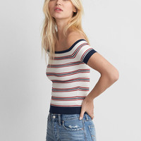 AEO Off-The-Shoulder Sweater, Cream